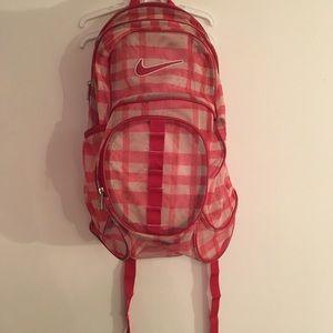 RARE Nike Brasillia XL Mesh PLAID Backpack